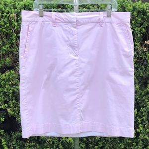 LL Bean Pink Lined Skirt With Pockets Size 16